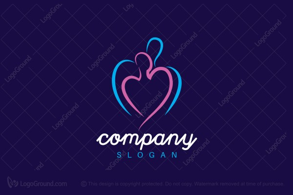 Logo for sale: Lovers Heart Logo