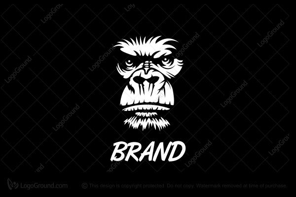 Logo for sale: Angry Gorilla Face Logo