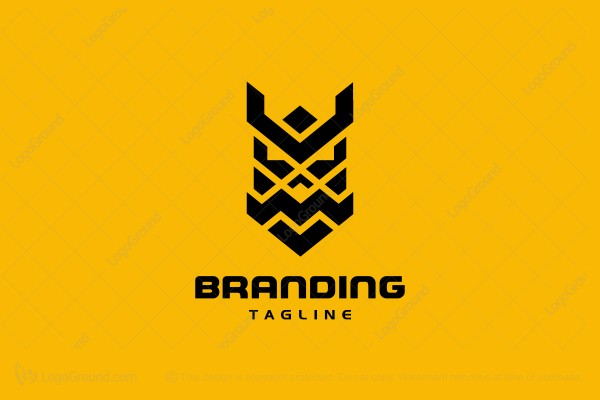 Logo for sale: Warrior Mask Logo