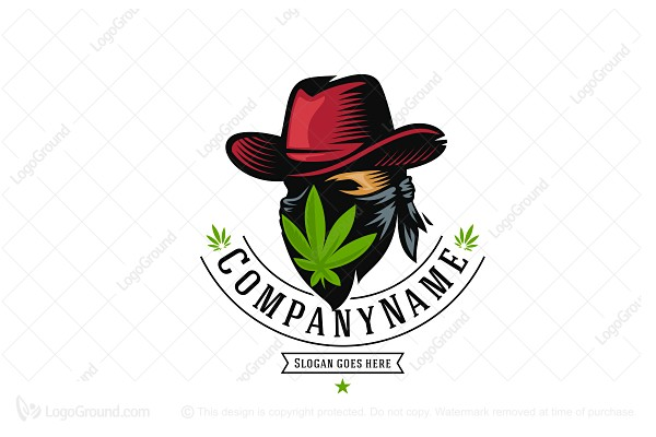Logo for sale: Weed Cowboy Logo