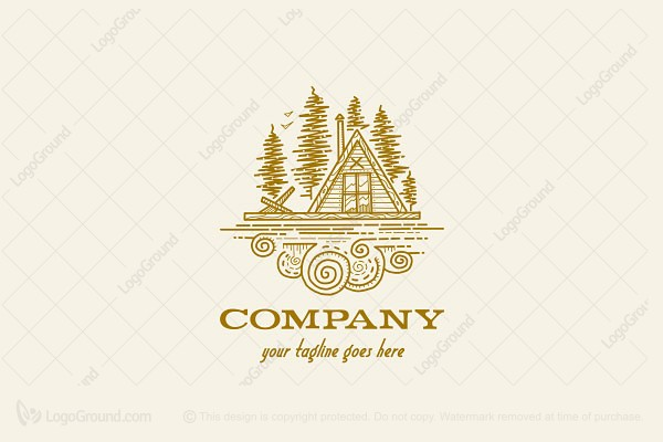 Logo for sale: Forest Cabin Logo