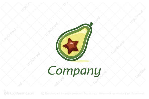 Logo for sale: Avocado Star Logo