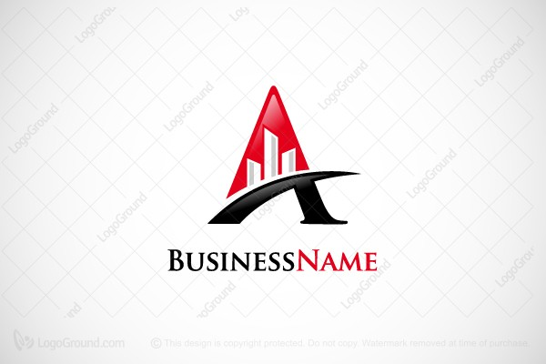 Logo for sale: Letter A Buildings Logo