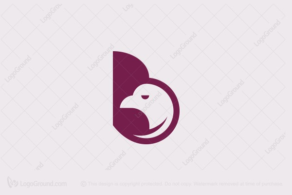 Logo for sale: Letter B  Bird Logo