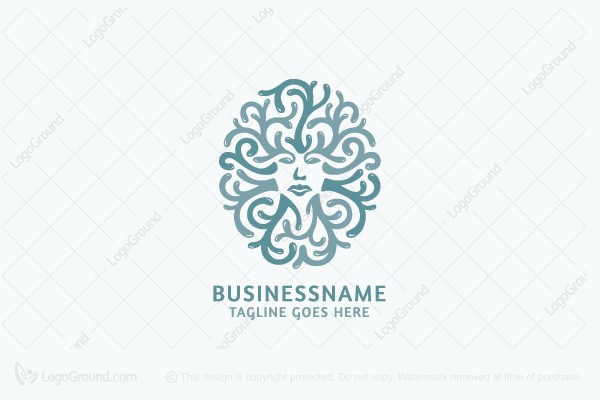 Logo for sale: Swirly Face Logo