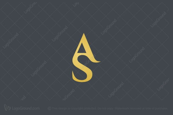 Logo for sale: AS Letters Logo