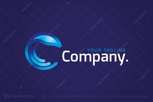 Jellyfish Letter C Logo