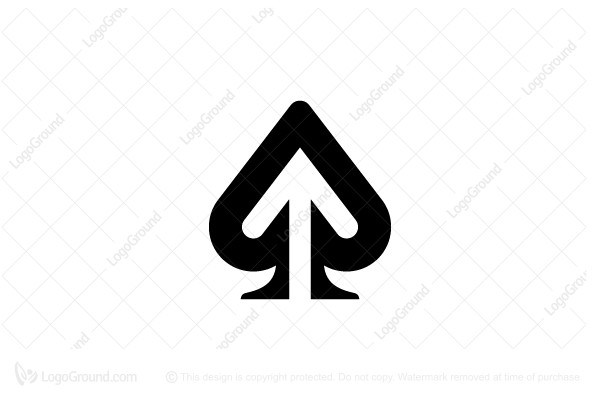 Logo for sale: Ace of Spades Arrow Logo