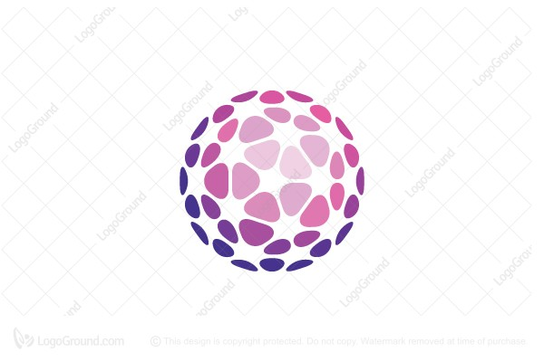 Logo for sale: Floral Sphere Beauty Logo
