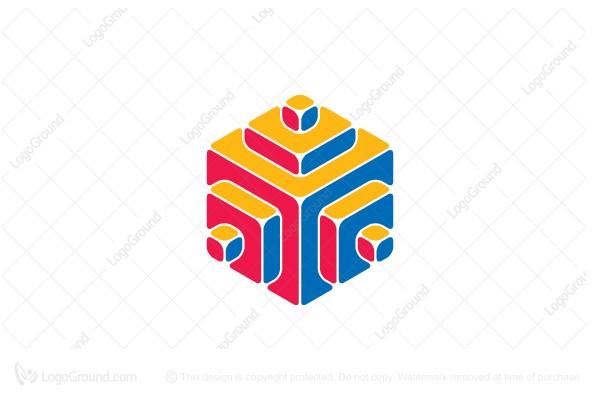 Exclusive Logo 134986, 3d Hexagonal Structure Logo