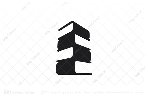 Logo for sale: 3d Book Tower Logo
