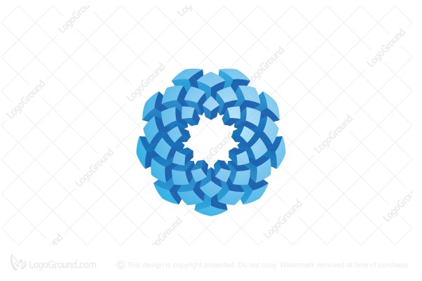 Logo for sale: Spiral Stylized Cubes Logo