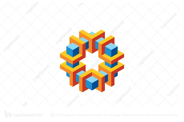 Exclusive Logo 148435, Abstract Geometric 3d Structure Logo