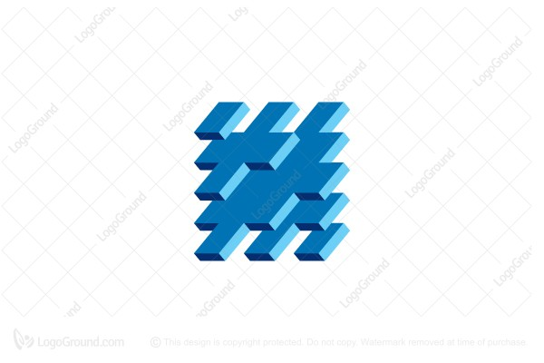 Logo for sale: Abstract 3d Cross Structure Logo