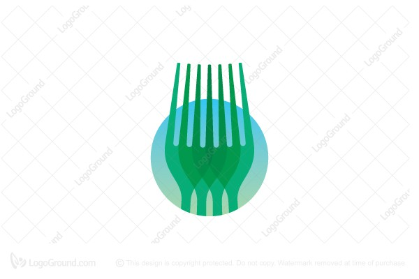 Logo for sale: Stylized Natural Forks Logo