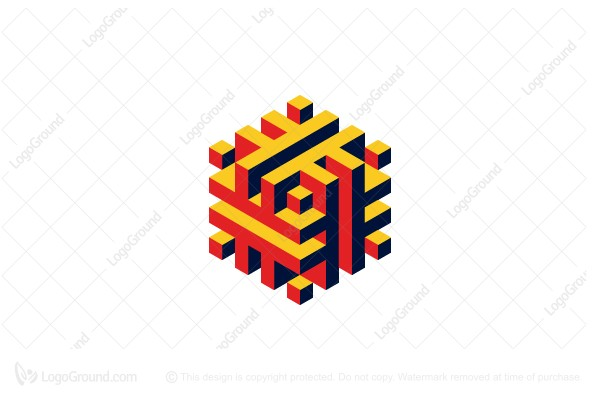 Logo for sale: Abstract 3d Geometric Structure Logo