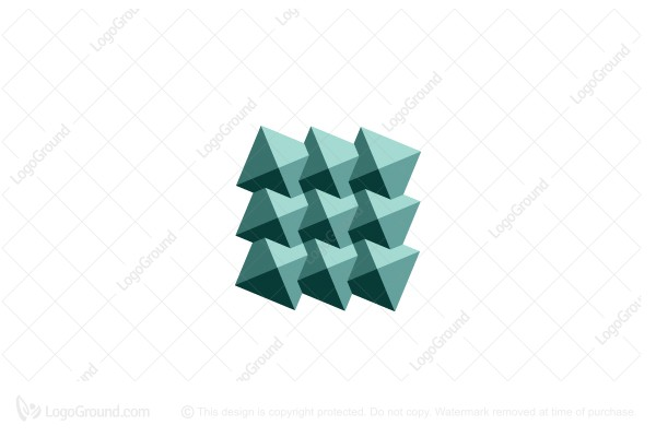 Logo for sale: Intersecting Pyramids Logo