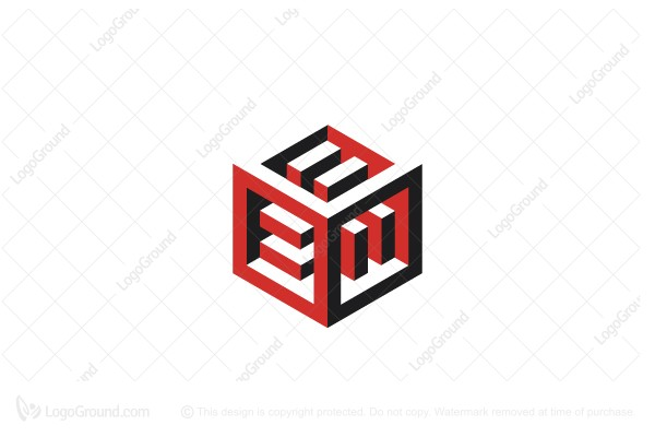 Logo for sale: Abstract Cube Structure Equality Logo