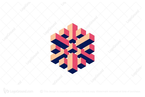 Logo for sale: Hexagonal 3d Abstract Structure Logo