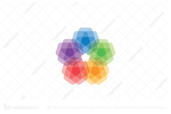 Logo for sale: Stylized Spectral Star Flower Logo