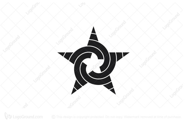 Logo for sale: Abstract Spiral Star Logo