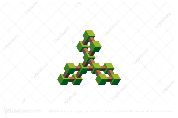 Logo for sale: Stylized Impossible Topiary Structure Logo