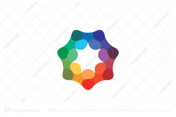 Logo for sale: Abstract Spectral Heptagonal Star Logo