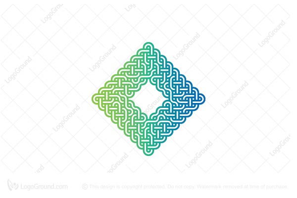 Logo for sale: Abstract Rhombus Monoline Knot Logo