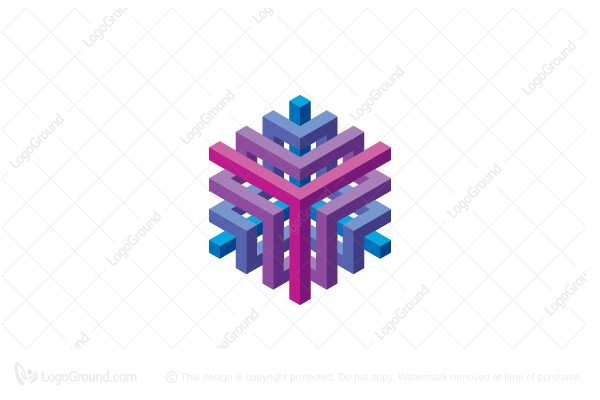 Logo for sale: Cubic Structure Abstract 3d Logo