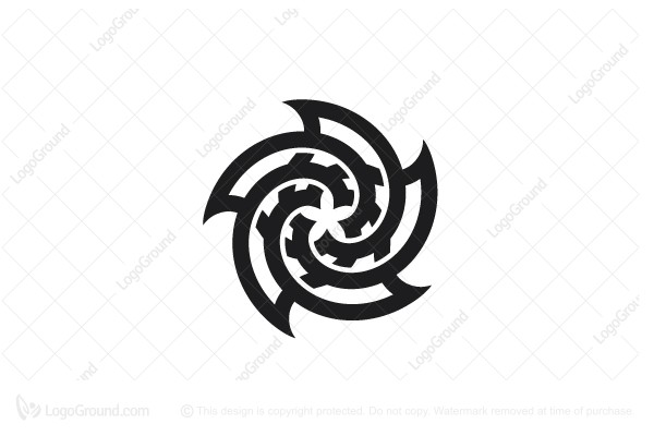 Logo for sale: Stylized Spiral Flower Knot Logo