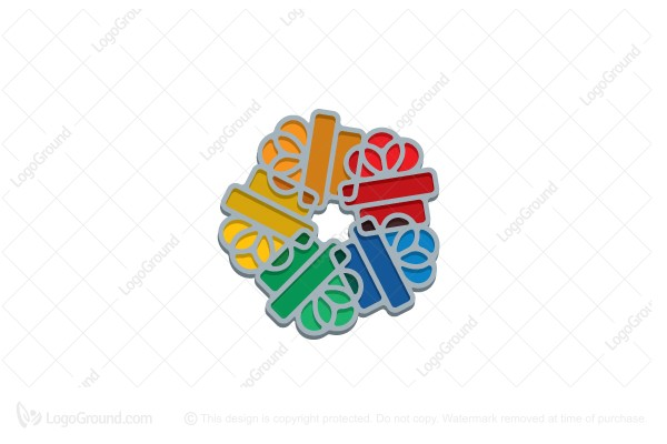 Logo for sale: Stylized Colorful Gifts Logo