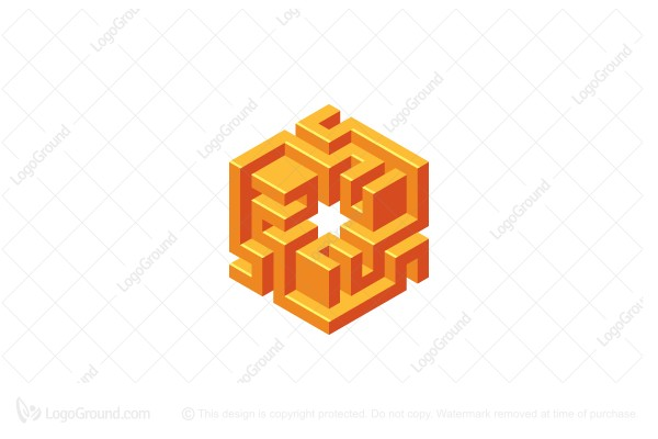 Logo for sale: Abstract Cubic Structure 3d Logo