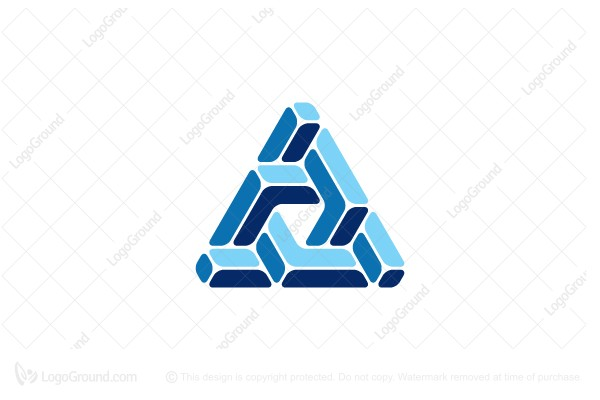 Logo for sale: Triangular Abstract Structure Logo
