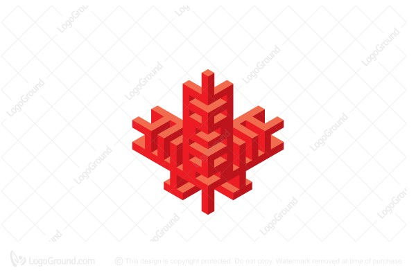 Logo for sale: Stylized Maple Leaf Logo