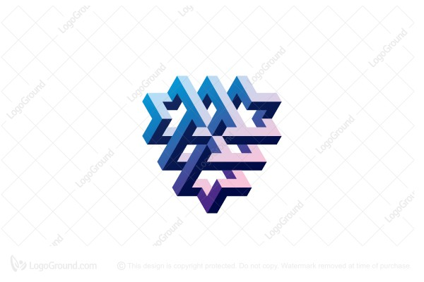 Logo for sale: Abstract Impossible 3d Structure Logo