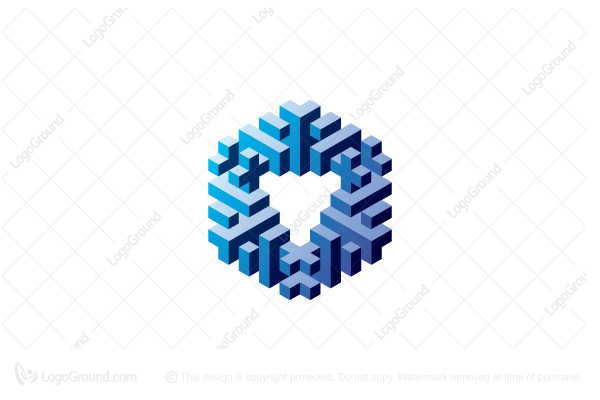 Logo for sale: 3d Geometric Abstract Hexagonal Structure Logo