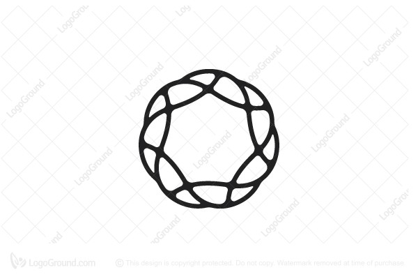 Logo for sale: Organic Heptagonal Star Logo