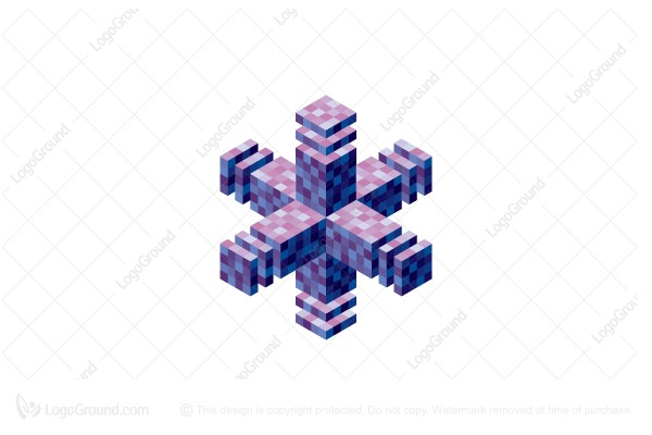 Logo for sale: 3d Abstract Cruciform Geometric Structure Logo