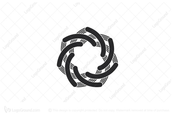 Logo for sale: Abstract Heptagonal Geometric Knot Logo