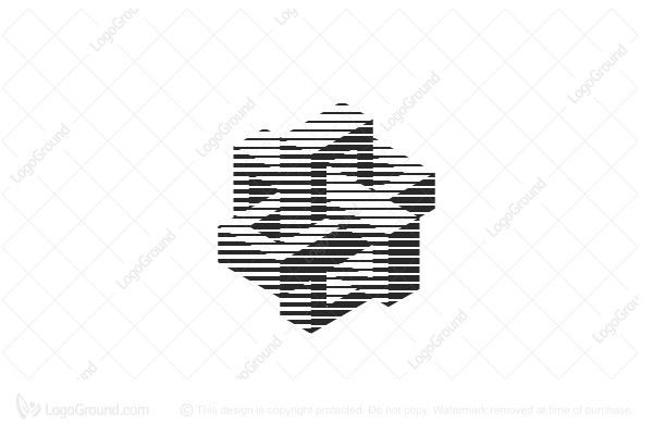 Logo for sale: Abstract 3d Structure Lines Logo