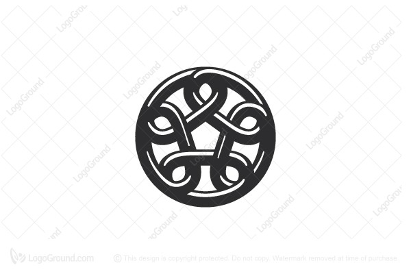 Logo for sale: Stylized Chain Circle Logo