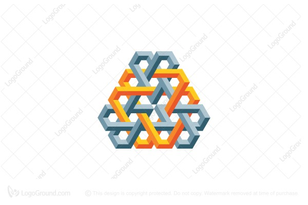 Logo for sale: Abstract 3d Knot Structure Logo