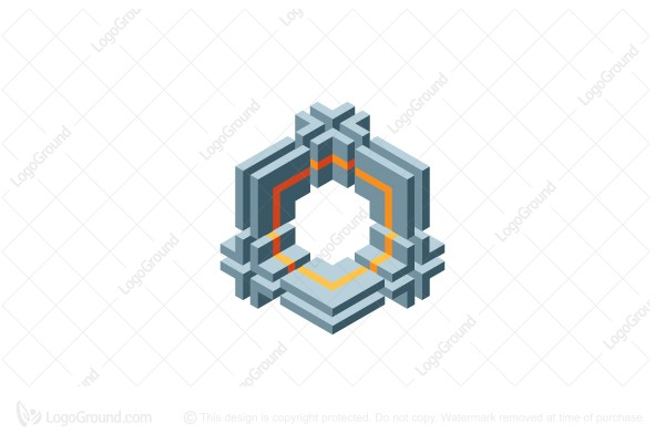 Logo for sale: Abstract 3d Hexagonal Geometric Structure Logo