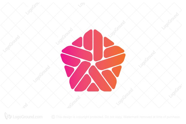 Logo for sale: Abstract Pentagonal Pattern Logo