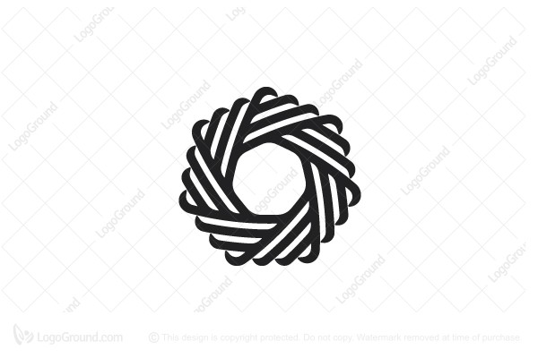 Logo for sale: Abstract Heptagonal Ribbon Knot Logo