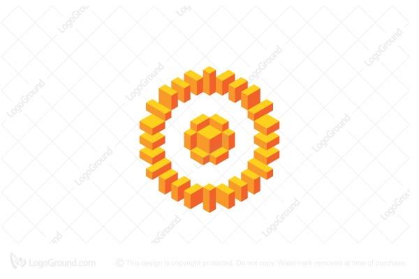 Logo for sale: Abstract Geometric Circular Pattern Logo
