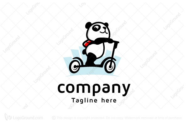 Logo for sale: Scooter Panda Logo