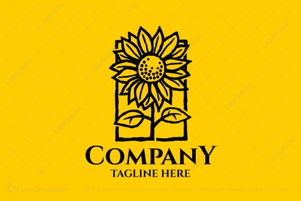 Logo for sale: Sunflower Brand Logo