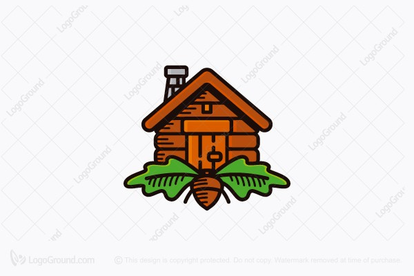 Logo for sale: Oak Cabin Logo