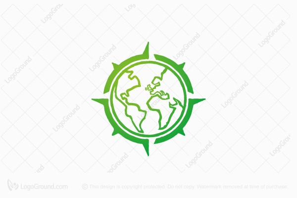 Logo for sale: Earth Compass Logo
